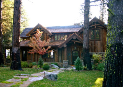 Scissor Log Cabin